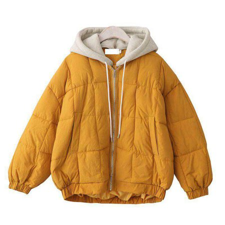 itGirl Shop | PUFF QUILTED PADDED ZIPPER HOOD WARM OUTWEAR COAT JACKET
