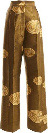 Loewe Jacquard Straight-Leg Pants