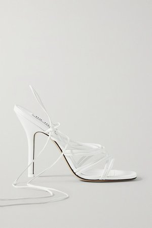 Fiona Leather Sandals - White