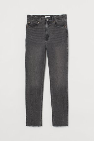 Slim High Ankle Jeans - Gray