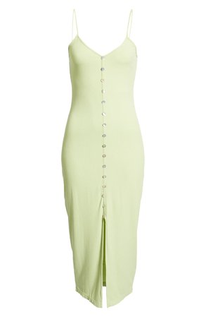 CAPULET Lily Button Front Ribbed Midi Dress   Nordstrom
