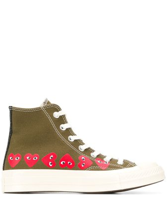 Comme Des Garçons Play x Converse Chuck Taylor Sneakers - Farfetch
