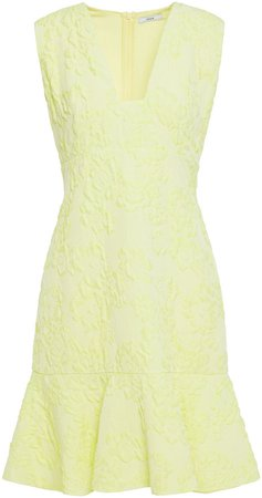 Kim Fluted Cloque Mini Dress