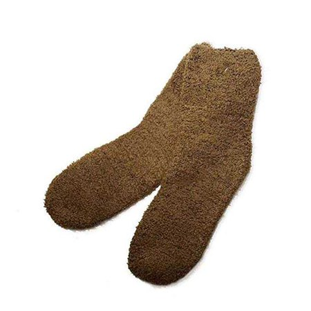 Brown Fuzzy Socks