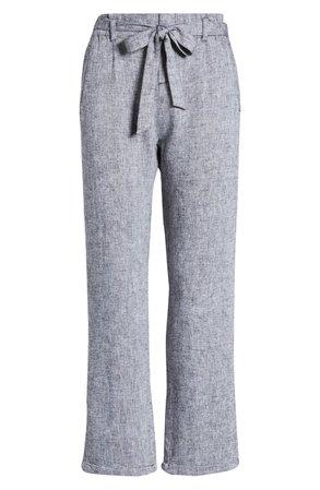 Caslon® Tie Waist Crop Pants | Nordstrom