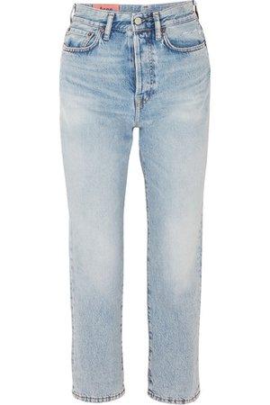 Acne Studios | Cropped high-rise straight-leg jeans | NET-A-PORTER.COM