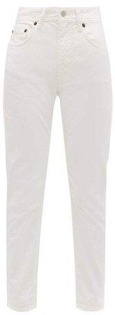 Melk Straight Leg Jeans - Womens - White