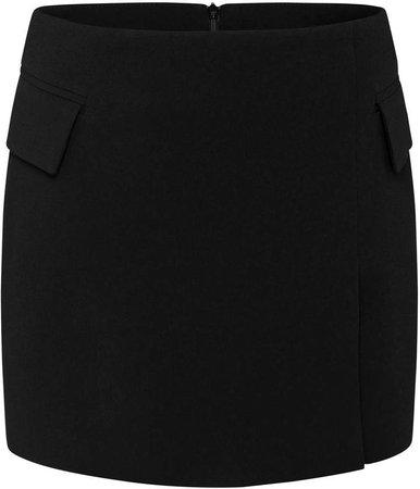 Alex Perry Izzy Satin Crepe Mini Skirt