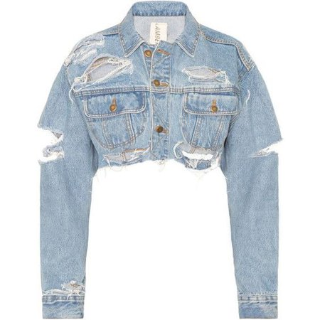 DASH Tyler Lambert Cropped Denim Jacket