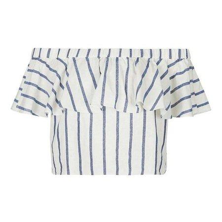 Striped Off The Shoulder Blouse