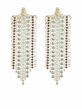 Shop Rosantica crystal-embellished cascade earrings with Express Delivery - FARFETCH