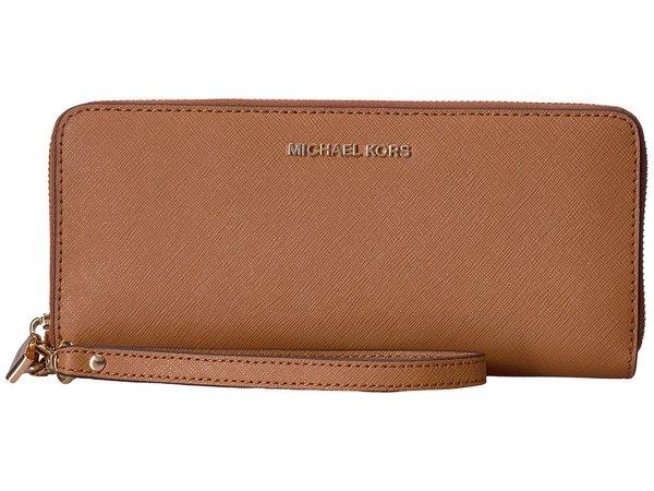 MICHAEL Michael Kors - Jet Set Travel Travel Continental (Acorn) Clutch Handbags