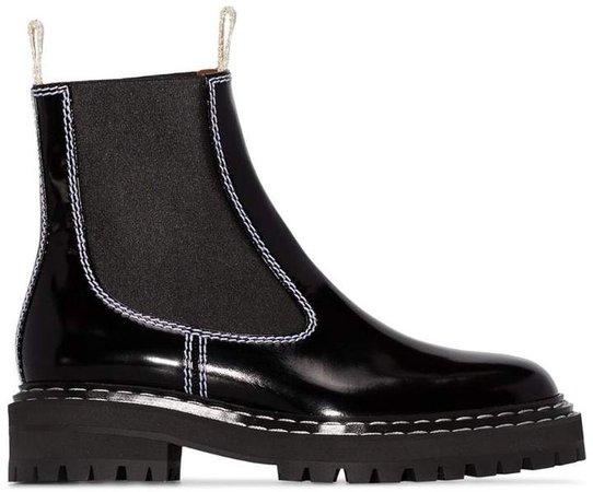 Lepanto contrast stitch ankle boots