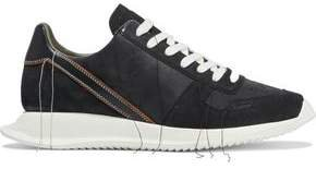 Vintage Runner Frayed Leather, Nubuck And Suede Sneakers