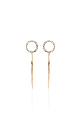 Sophie Ratner 14K Gold Pavé-Diamond Hoop Earrings