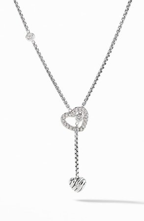 David Yurman Heart Y-Necklace with Diamonds | Nordstrom