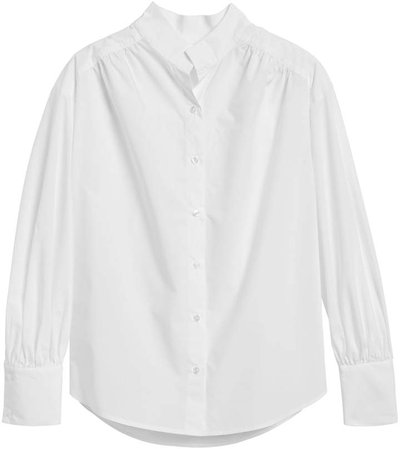 Petite Relaxed Puff-Sleeve Shirt