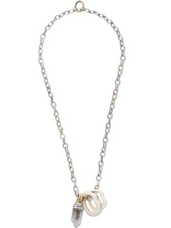 Hunrod Crystal Stacking Necklace CRYSTALSTACKINGNECKLACE Silver | Farfetch