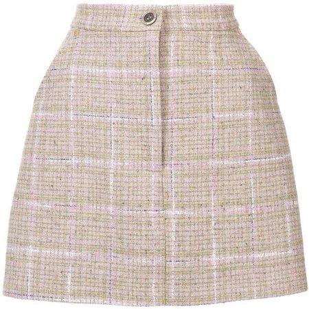 Natasha Zinko Tweed Mini Button Front Skirt (2,245 PEN)