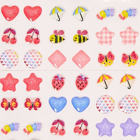 Claire's Club April Showers Stick On Earrings - 30 Pack | Claire's US