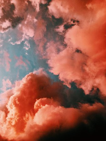 orange smoke on blue background (With images) | Clouds, Smoke background, Cloud photos