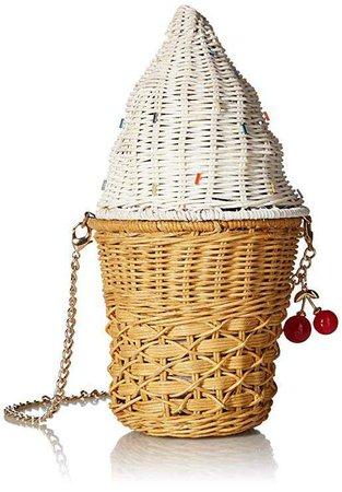 Betsey Johnson Sprinkles on Top Wicker Ice Cream Cone Crossbody, Multi: Handbags: Amazon.com
