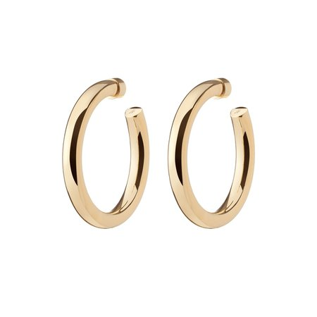Brass Hoops | Baby Samira Hoops – Jennifer Fisher