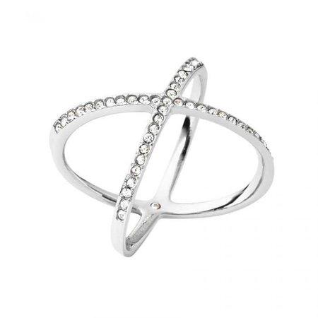 Michael Kors Pavé Silver-Tone Midi Ring