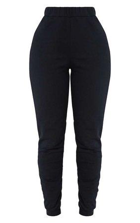 Shape Black Elastic Bottom Joggers | Curve | PrettyLittleThing