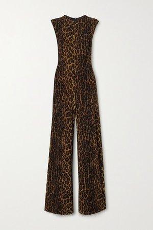 Leopard-print Stretch-jersey Jumpsuit - Leopard print
