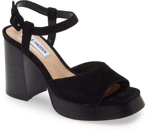 Inclusive Suede Block Heel Sandal