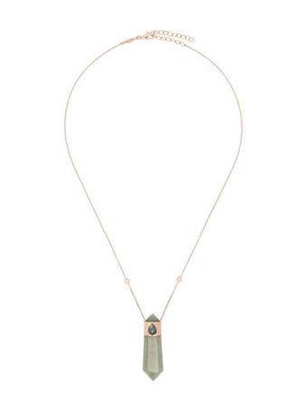 Jacquie Aiche 14kt Rose Gold Crystal Pendant Necklace - Farfetch