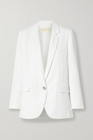 Pique Blazer - White