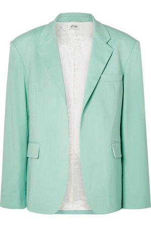 Attico | Wool-blend gabardine blazer | NET-A-PORTER.COM