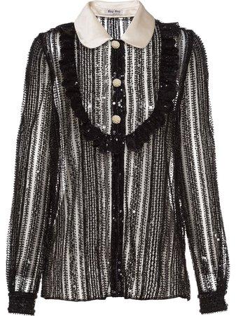 Miu Miu Sequinned Blouse - Farfetch
