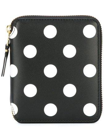 Comme Des Garçons Wallet polka dot wallet black & white SA2100PD - Farfetch