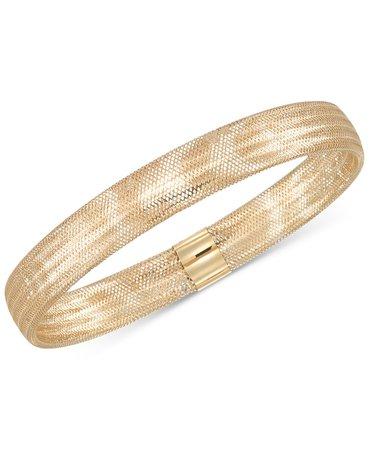 Italian 14k Gold Stretch Bangle Bracelet