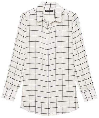 Parker Tunic-Fit Print Shirt