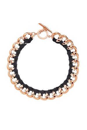 Chunky Rose Gold Ribbon Necklace by Amanda Wakeley at ORCHARD MILE