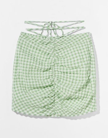 Checked mini skirt - Skirts - Woman | Bershka
