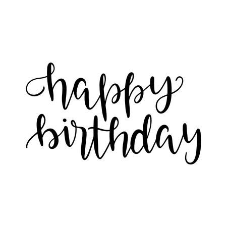 happy birthday calligraphy text