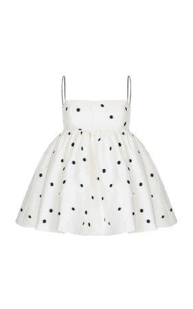 Rasario Jacquard Dress With Voluminous Skirt | ShopLook