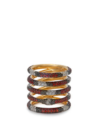Kingsnake 18kt gold, diamond & topaz ring | Gucci | MATCHESFASHION.COM