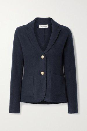 Merino Wool-felt Blazer - Navy