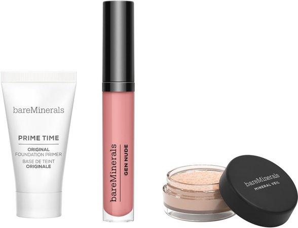 Primer, Finishing Powder & Lip Lacquer Set