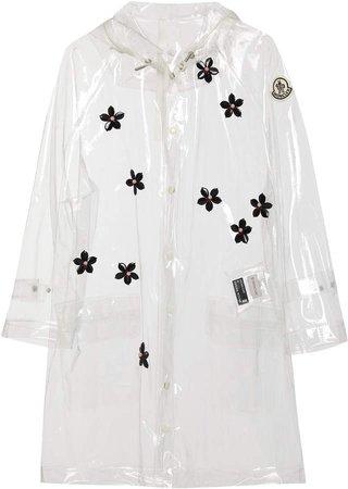 Moncler Genius + Floral-Appliqued PVC Hooded Raincoat