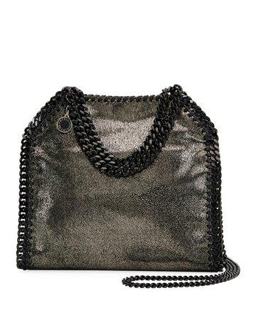 Stella McCartney Falabella Mini Shiny Dotted Chamois Tote Bag | Neiman Marcus