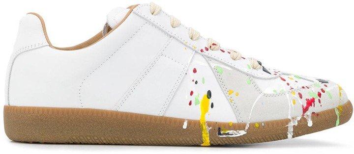Paint Splatter Sneakers