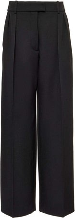 Valentino Wide-Leg Wool Pants