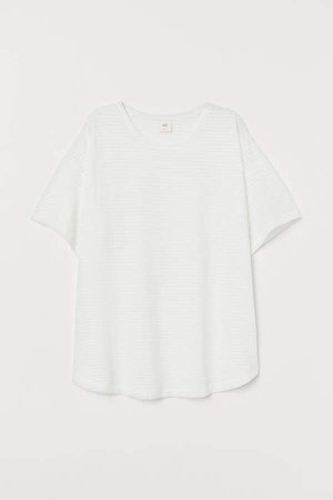 Wide-cut T-shirt - White